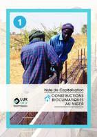 Note de Capitalisation n°1 - Constructions bioclimatiques au Niger