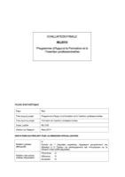 MLI/019 - Programme d'Appui à la Formation et à l'Insertion professionnelles