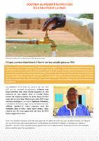 Programme régional d'urgence d'aménagement d'infrastructures de proximité du G5 Sahel (PDU) - De l'eau pour la paix